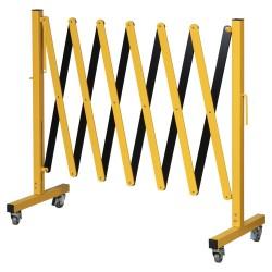 Scissor barrier on wheels