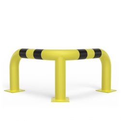 Steel corner barrier